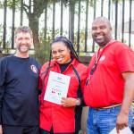 Amaka 'Wizie' Anowi gets her certificate